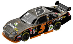 Mark Martin 2010 Go Daddy Brushed Metal